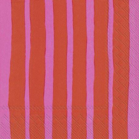 Marimekko, Servietten Raide, Red Pink
