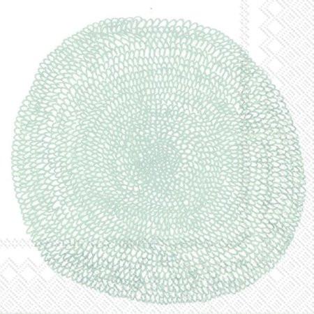 Marimekko, Servietten Pippurikerä, White Silver