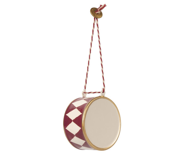 Maileg, Metal Ornament Large Drum, Red
