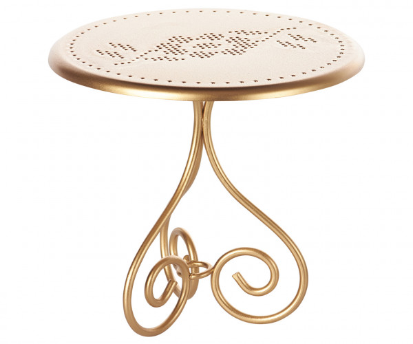 """Maileg """"vintage coffee table"""" gold"""