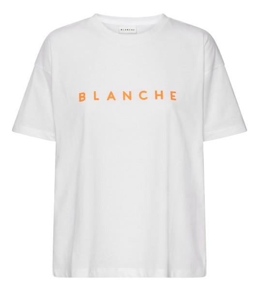 BLANCHE, Main T-Shirt, White / Orange