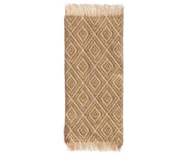 Miniature rug, Mustard, 22x9cm