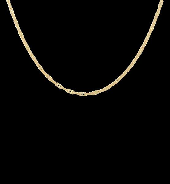 Anna+Nina, Lifeline Plain Short Necklace, Gold
