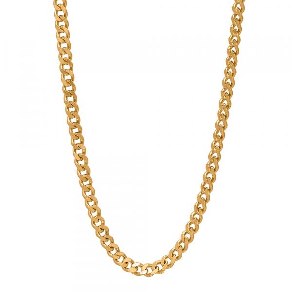 "Nordahl, Halskette ""PANZER52"", Silber vergoldet, 38cm"