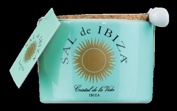 Sal de Ibiza, Fleur de Sel, im Keramiktöpfchen mit Löffel