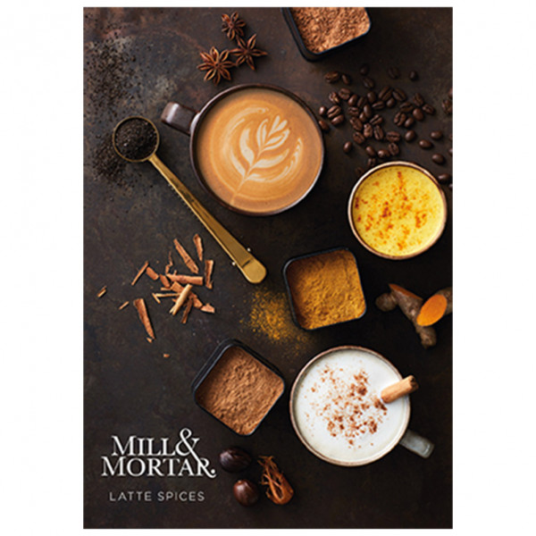 Mill&Mortar, Latte Spices, Flouvers for Coffeee, cocoa and chai
