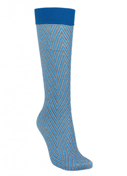 Beck Söndergaard - Duca Zig Zag Sock, Light Blue