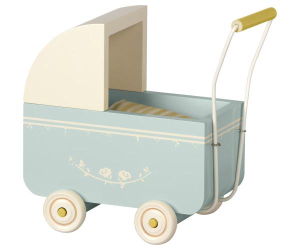 Maileg, Kinderwagen, Micro Blue
