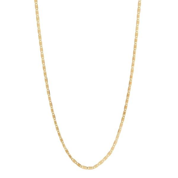Maria Black, Karen 70 Adjustable Necklace Sterling Silver - High Polished Gold