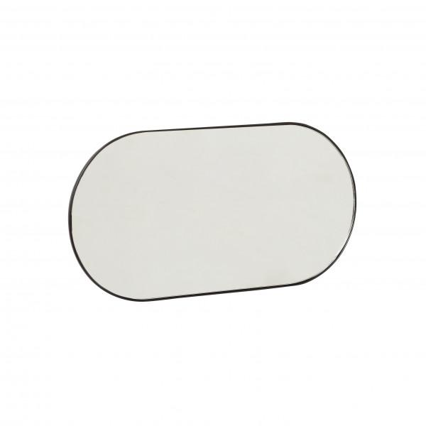 Hübsch, Hakenleiste mit Spiegel, schwarz