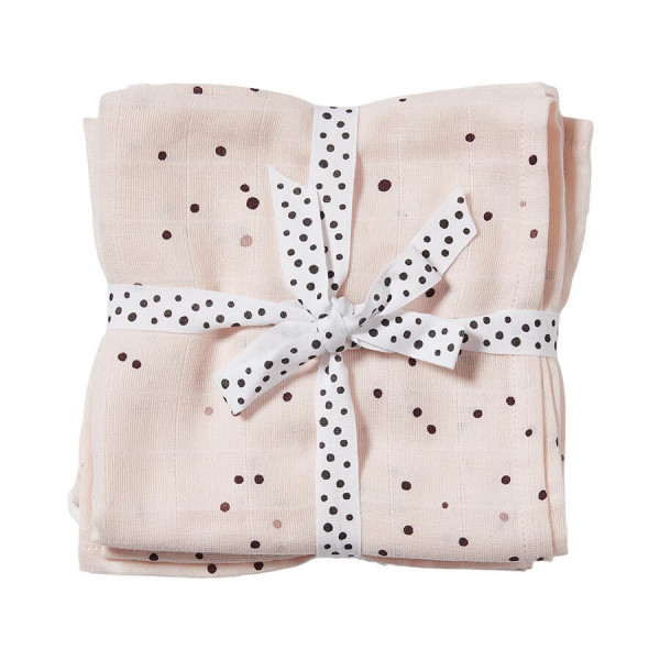 Done by Deer, Swaddle 2-Pack, Dreamy Dots Powder