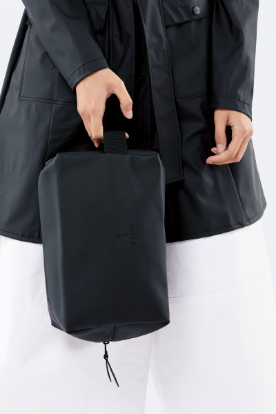 Rains, Wash Bag Large, Black