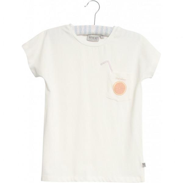 "Wheat ""T-Shirt Pink Orange"" Ivory"