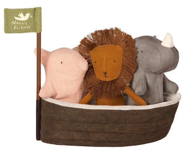 Maileg, Noah`s Ark with 3 mini animals