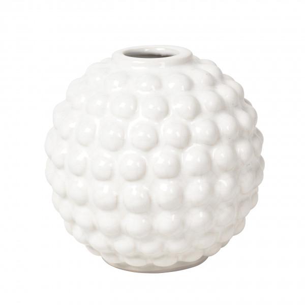 "Broste Copenhagen, Vase ""Dotty"", Rund, Keramik Ivory"
