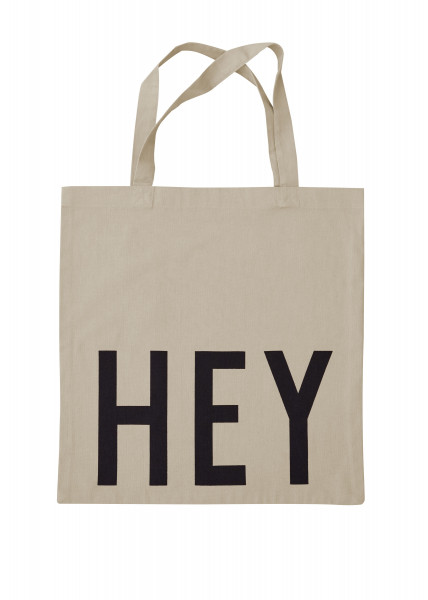 Design Letters, Favorite Tote Bag HEY, BEIGE