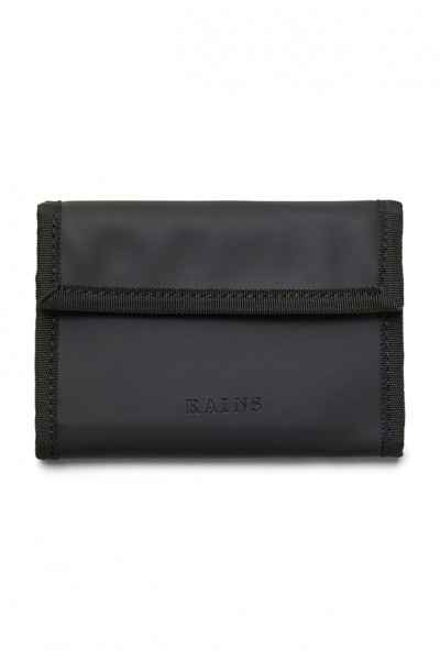 Rains, Velcro Wallet, Black