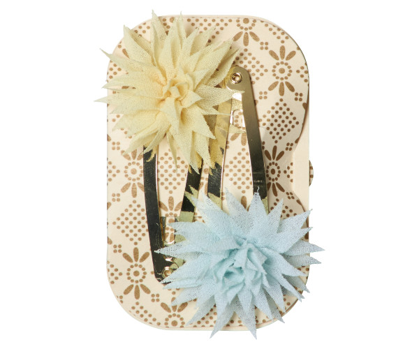 Maileg, Dahlia Flower Clips, Lemon Ice Mint