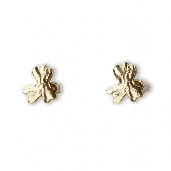 YAYA, Flower Studs, Gold
