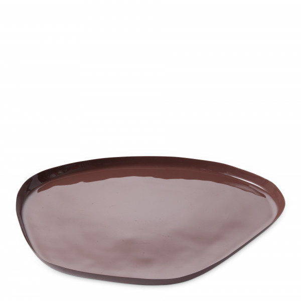 YAYA, Enamal Tray, large, Indian red
