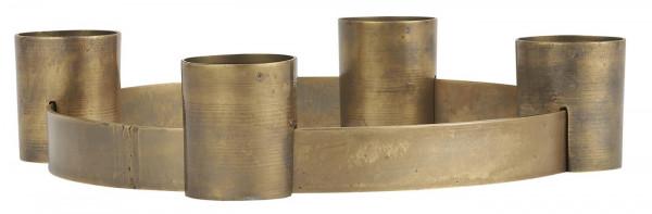 Ib Laursen, Adventkerzenhalter für 4 Kerzen verschiebbare Halter, Gold