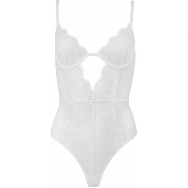 OW Intimates, Lily Bodysuit, White