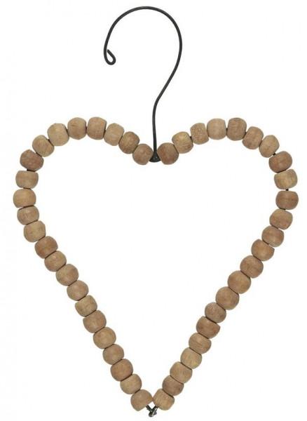 Ib Laursen, Herz zum hängen Holzperlen in versch. Größen