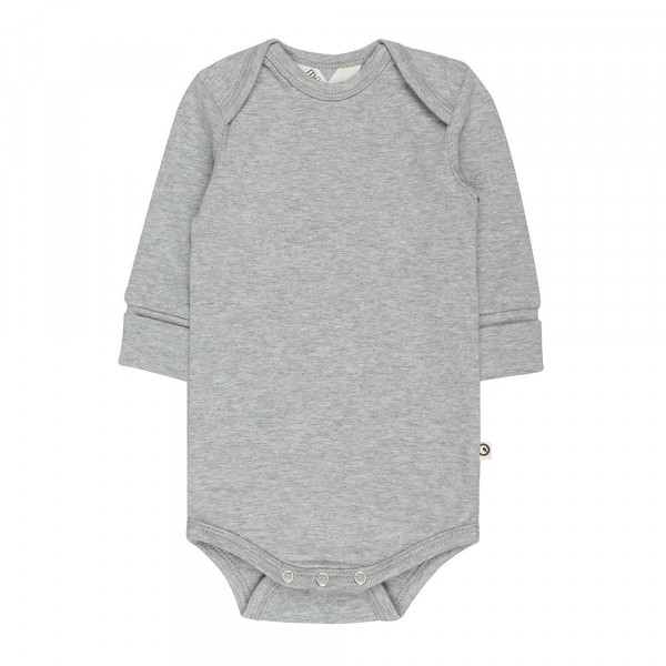 "müsli by green cotton ""Long-sleeved body"" Pale greymarl"