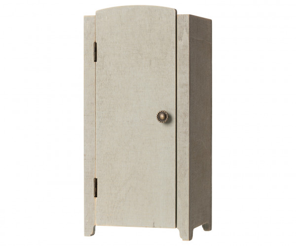 Maileg, Vintage closet w. shelves, Mini - Mint/Grey