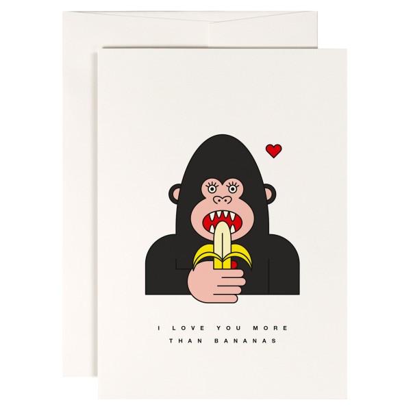 Red Fries, Klappkarte, I Love You More Than Bananas