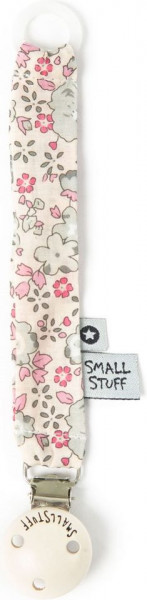 "Smallstuff ""Fabric dummychain"" rose grey flower"