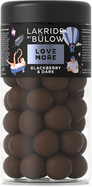 Lakrids by Bülow, LOVE MORE, Blackberry & Dark, 295g