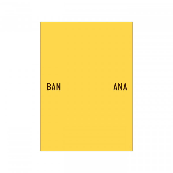 PLTY, BANANA SPLIT Plakat A3