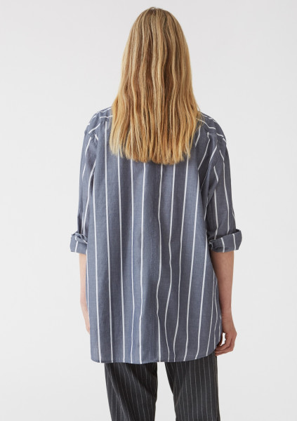 HOPE, Elma Shirt, Grey Stripe