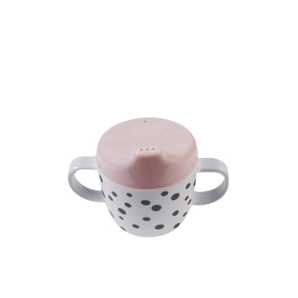 "Done By Deer ""Spout cup"" Happy dots, powder"