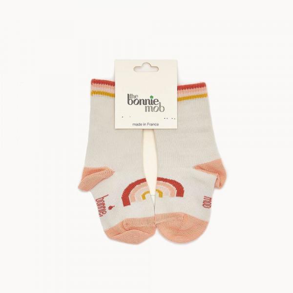 the Bonnie mob, Rainbow Socks, Peach