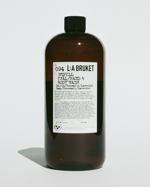 "L:A Bruket, No.094 ""Hand & Body Wash"" Sage/Rosemary/Lavender Refill 1000ml"