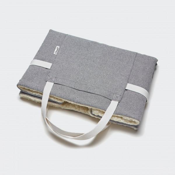 "Cloud7 ""Travel Bed"" Tweed Grey, L"