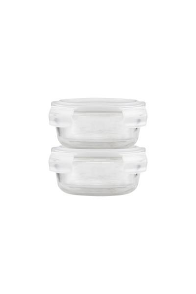 """House Doctor, Frischhalteboxen aus Glas """"Round"""", 2er Set"""