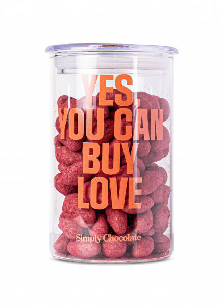 "Simply Chocolate ""Yes You Can Buy Love"", Jar, 280g"