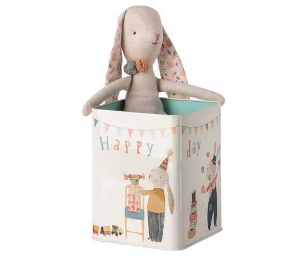 "Maileg ""Happy Day Bunny in Box"" Medium"