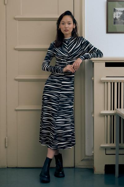 Stine Goya, Asher, Dress Jersey, Pleats Black