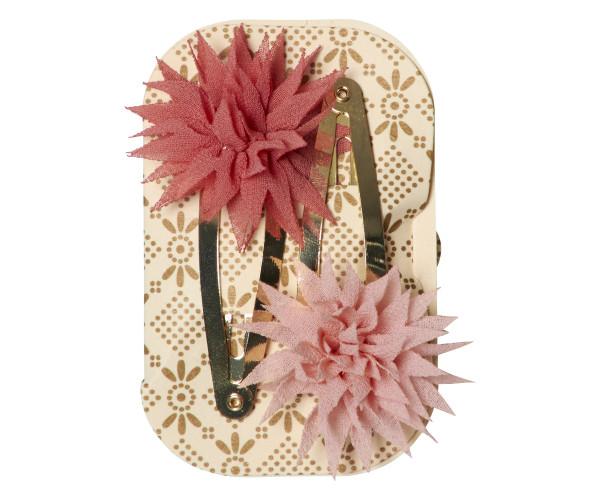 Maileg, Dahlia Flower Clips, Raspberry Melon