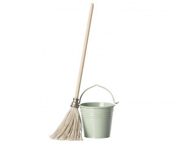 "Maileg ""Bucket and Mop"""