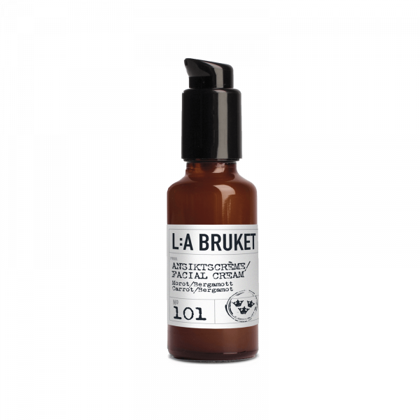 LA Bruket 101 Facial Cream Rich, Carrot/ Bergamot 50ml