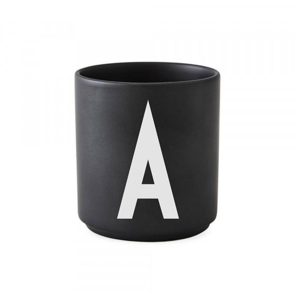 Design Letters, Personal Porcelain Cup, Black