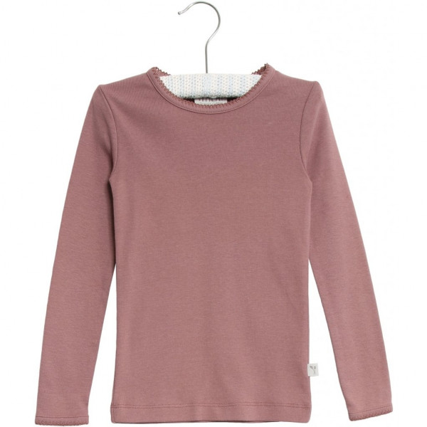 WHEAT, Basic Girl T-Shirt LS, Plum