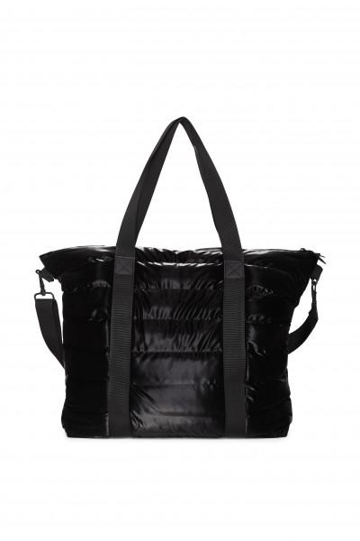 Rains, Tote Bag Quilted, Velvet Black