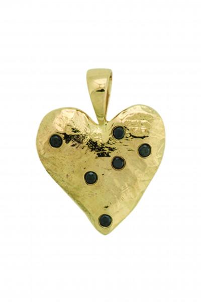 Anna+Nina, Heart Necklace Charm, Gold