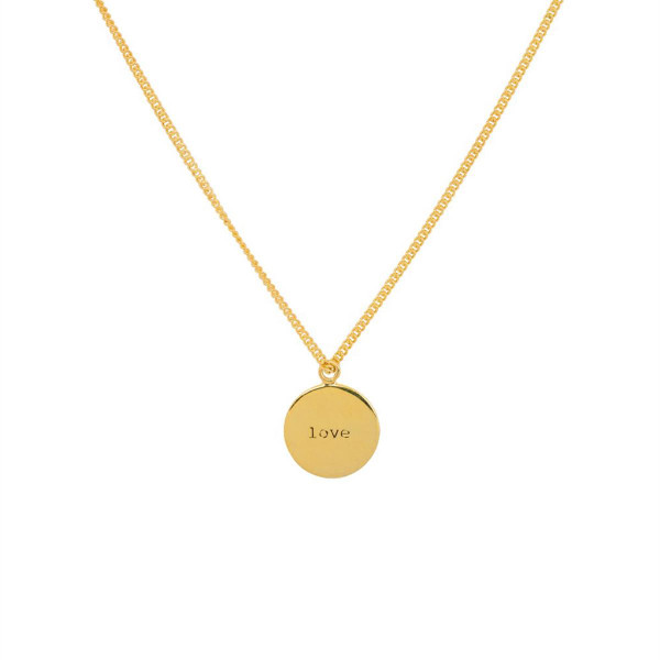 "Amy Coin Necklace ""Love"""